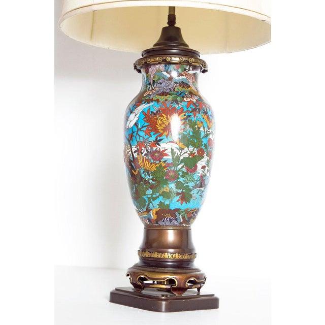 Late 19th Century Japanese Meiji Cloisonne Vase as Custom Lamp For Sale - Image 9 of 13