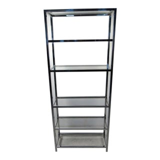 Mid-Century Modern Chrome and Glass Etagere For Sale