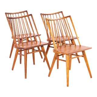 Leslie Diamond for Conant Ball Mid Century Windsor Dining Chairs - Set of 4 For Sale