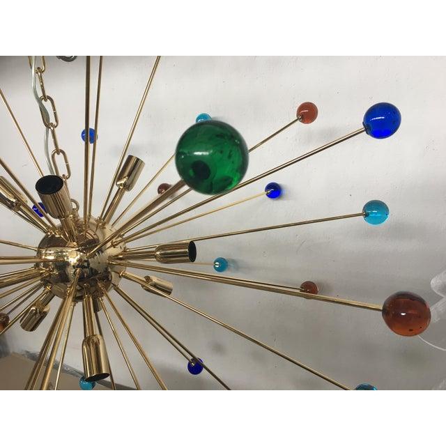 Multicolor Murano Glass Triedo Sputnik Chandelier For Sale - Image 11 of 12