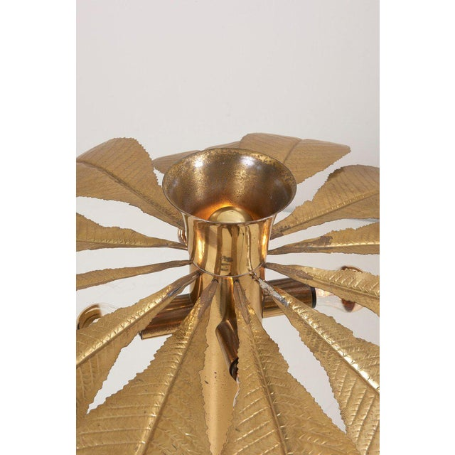 Rare and Impressive Brass Rhaburb Floor Lamp by Tommaso Barbi For Sale - Image 10 of 11