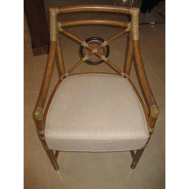 McGuire Target Bamboo Chairs & Dining Table - Set of 5 - Image 11 of 12