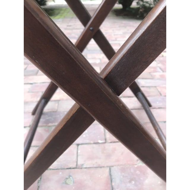 Campaign Style Mahogany Butlers Tray on Stand—Can Be Shipped in Box by Ups For Sale - Image 9 of 12