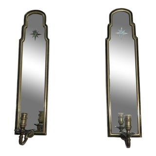 Mid-Century Chapman Mirrored Wall Sconces - a Pair For Sale