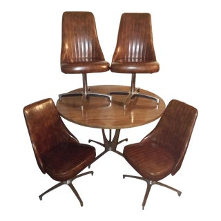 Mid-Century Modern Dining Set - Set of 4 Chairs and Table