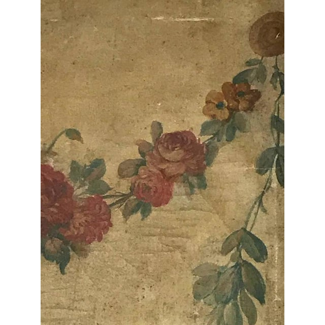French Large 18th Century French Oil on Canvas Wall Panel For Sale - Image 3 of 7