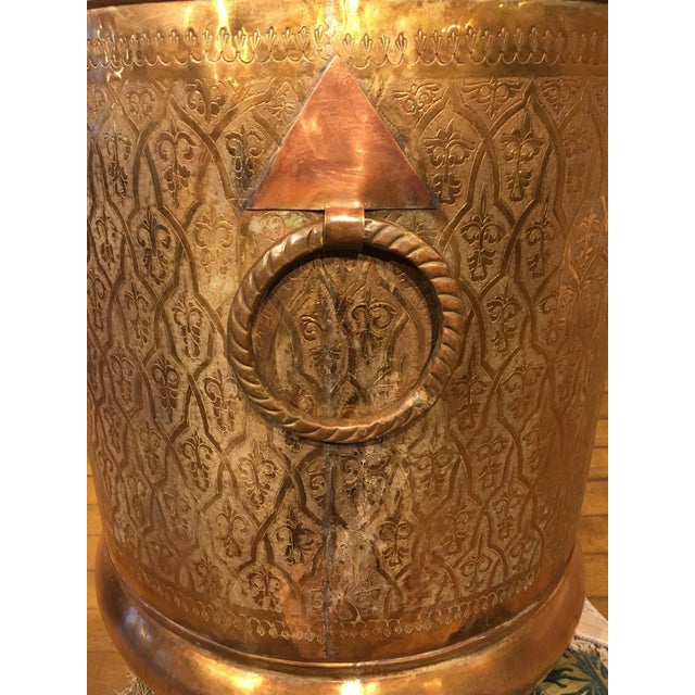 Copper Late 20th Century Moroccan Brass Planter For Sale - Image 8 of 12