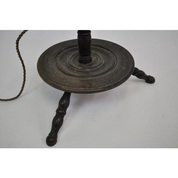 Brown Antique Vintage Wooden Floor Lamp For Sale - Image 8 of 10