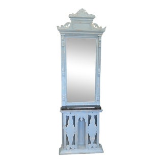 Antique Victorian Standing Hall Mirror For Sale