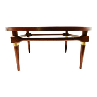 Mid-Century Modern Round Lane Coffee Table For Sale