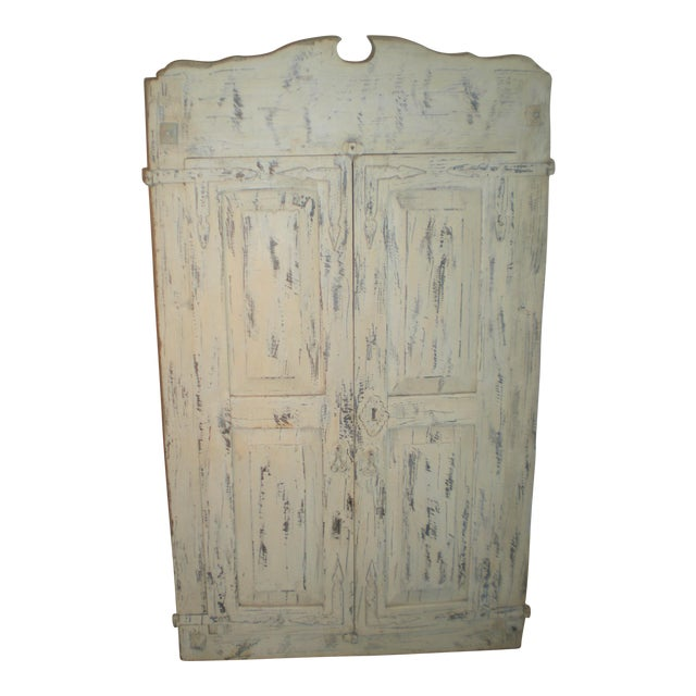 French Country Armoire Cast Iron Stand For Sale