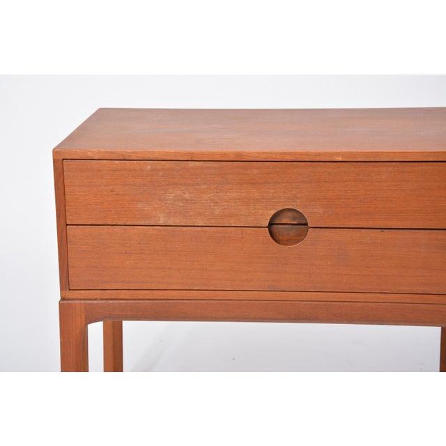 Wood Teak Nightstands by Aksel Kjersgaard for Odder, 1955, Set of Two For Sale - Image 7 of 12