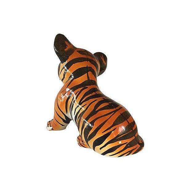 Hand Painted Italian Ceramic Tiger Cub - Image 3 of 6