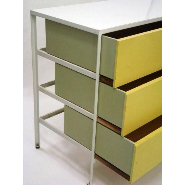 Herman Miller George Nelson 3 Drawer Steel Frame Chests - a Pair For Sale - Image 4 of 6