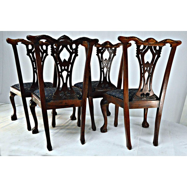 Chippendale Mahogany Dining Chairs - Set of 4 - Image 8 of 9