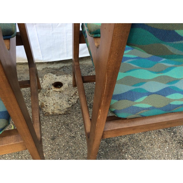 Wood 1960s Mid-Century Chairs - a Pair For Sale - Image 7 of 8