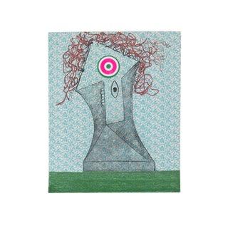 """Enrico Baj, """"Chez Picasso 6"""", Colorful Cubist Print For Sale"""