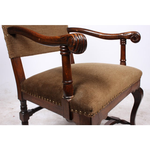 1920s French Queen Anne Style Arm Chair - Image 5 of 5