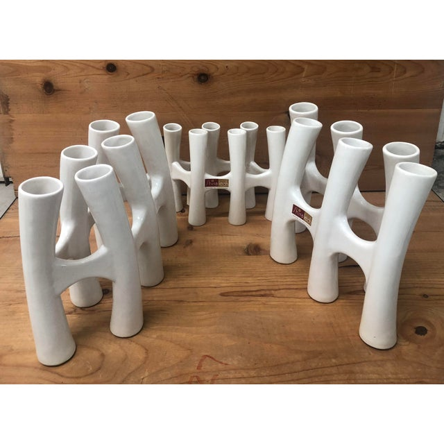 Beautiful Set of 3 White Ceramic Vases for any spot of your home. Have Elegant and Stunning House Decorations these season...