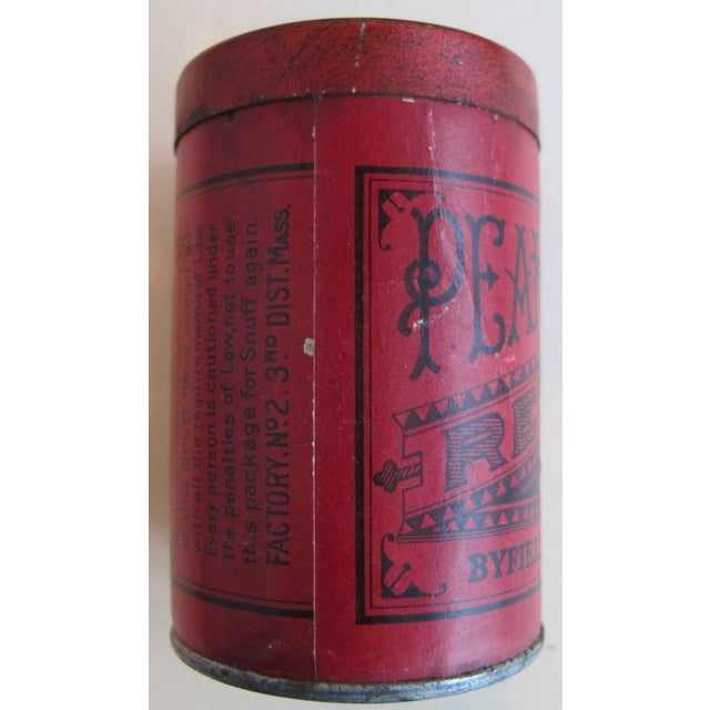 Vintage Red Top Snuff Tin With Tax Stamp For Sale - Image 5 of 6