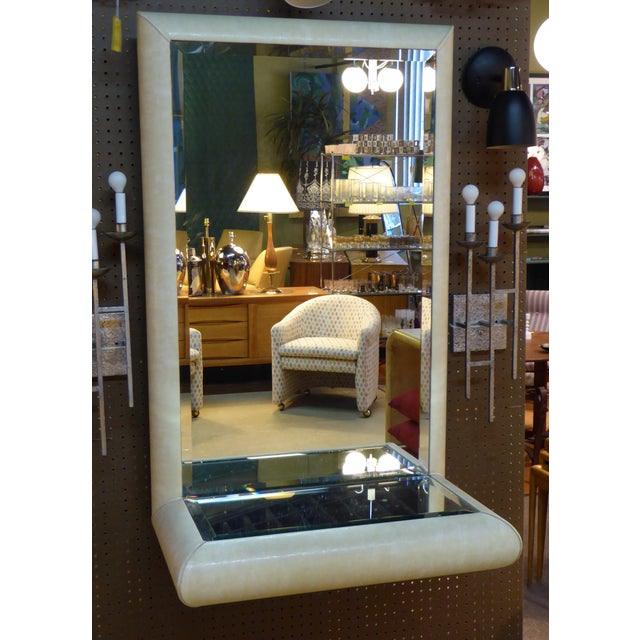 Springer Style Mirror Console in Faux Lizard by Jaru, California - Image 11 of 11