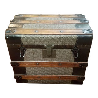 1890s Americana Mini Steamer Trunk For Sale