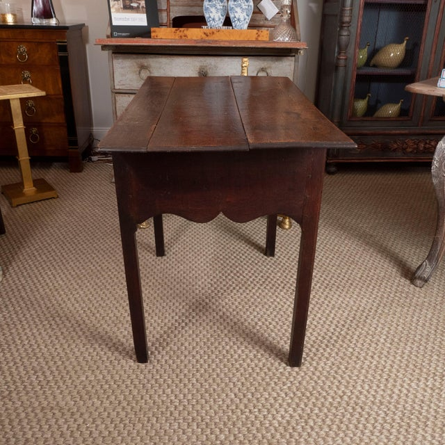 Brown 18th Century English Oak Side Table For Sale - Image 8 of 10