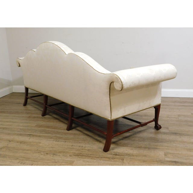 Kindel Irish Georgian Collection Mahogany Ball & Claw Camelback Sofa For Sale In Philadelphia - Image 6 of 13