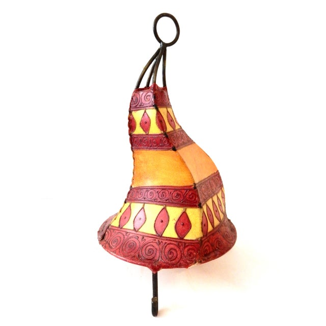 Islamic Moroccan Parchment Lamp For Sale - Image 3 of 3