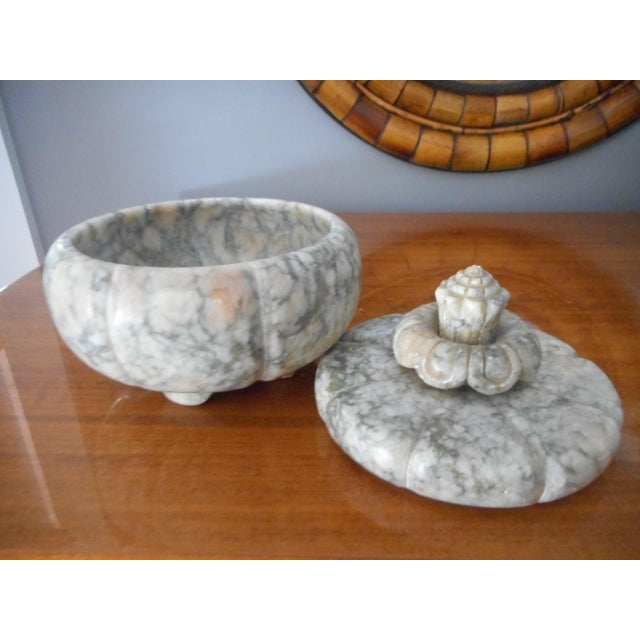Vintage Italian Alabaster Covered Jar - Image 4 of 5