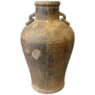 Signed 18th Century Chinese Iron Vessel / Vase For Sale
