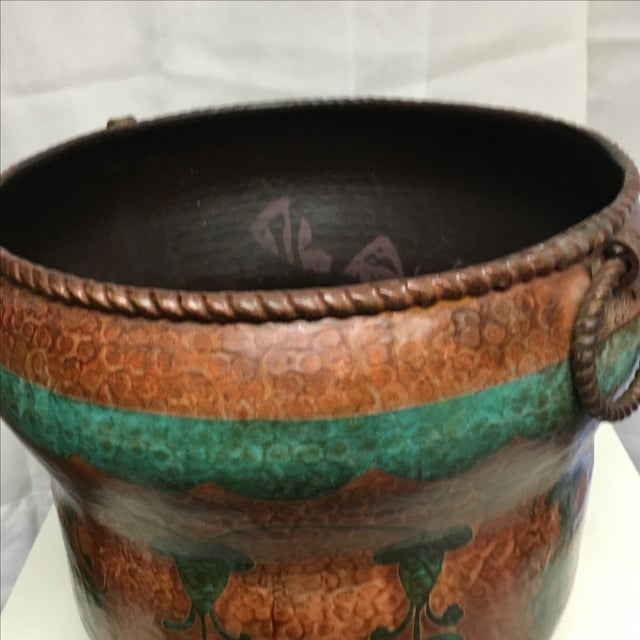 Oxidized Copper Planter For Sale - Image 4 of 6
