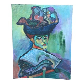 "Henri Matisse 1905 ""Woman With a Hat"" Print"