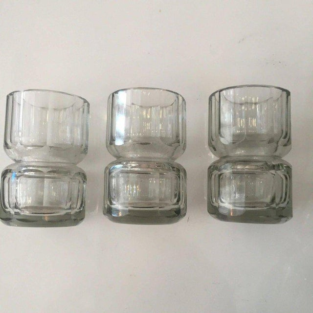 Czechoslovakian Crystal Decanter and Shot Glass Set- 4 Pieces For Sale - Image 4 of 5