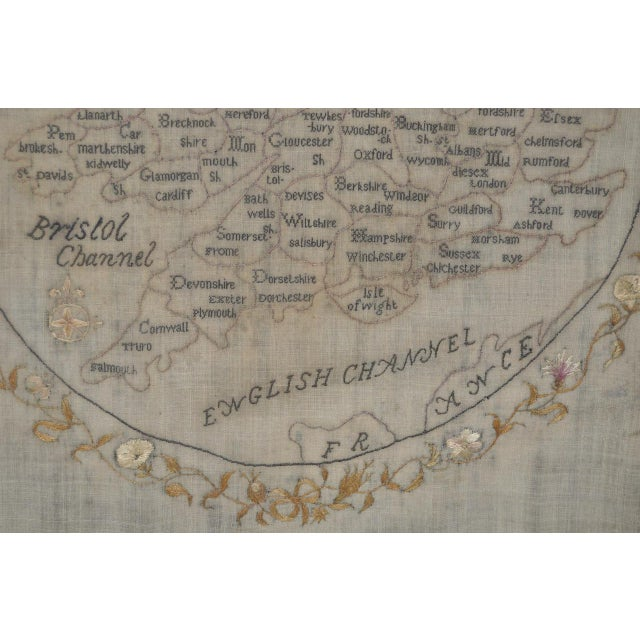Early 19th Century Map of England and Wales Sampler For Sale - Image 4 of 10