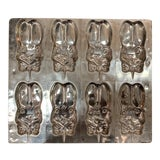 Image of Vintage Metal Chocolate Mold With 8 Bunnies For Sale
