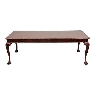 Chippendale Style Large Dining Table For Sale