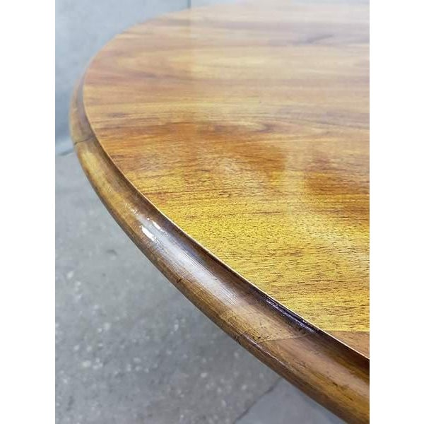 Brown Antique French Walnut Round Tilt Top Occasional Side Breakfast Table For Sale - Image 8 of 13