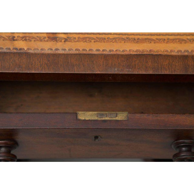 Mid 19th Century 19th Century Mahogany Knee Hole Desk For Sale - Image 5 of 8