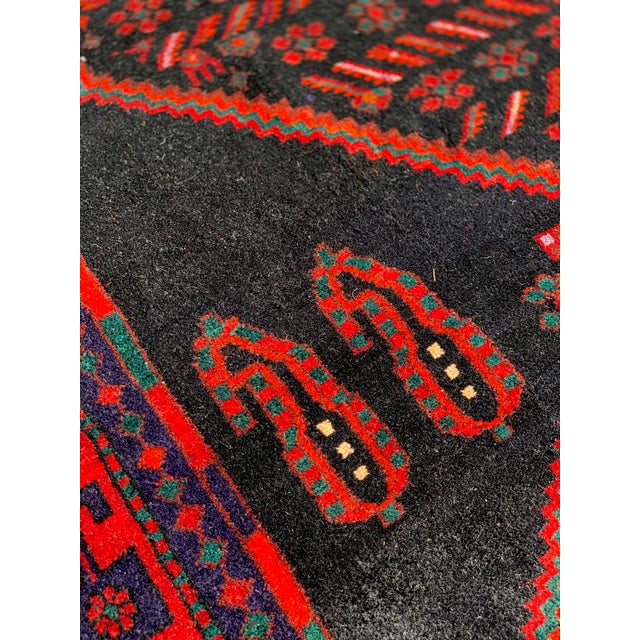 1960s Vintage Persian Bijar Runner Rug - 4′3″ × 11′4″ For Sale In Atlanta - Image 6 of 13