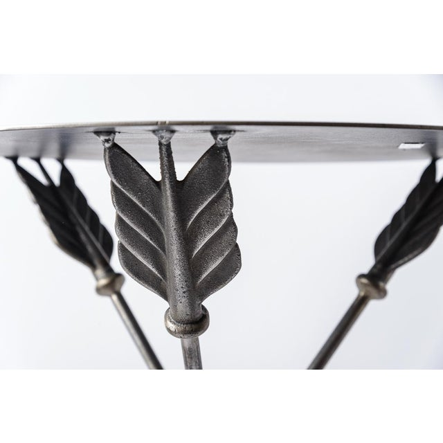 Campaign Arrow Side Tables by Peter Jeal, A-Pair For Sale - Image 9 of 13