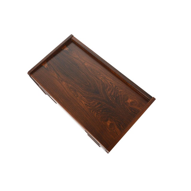 Danish Modern Two Drawer Rosewood Chest - Image 7 of 9
