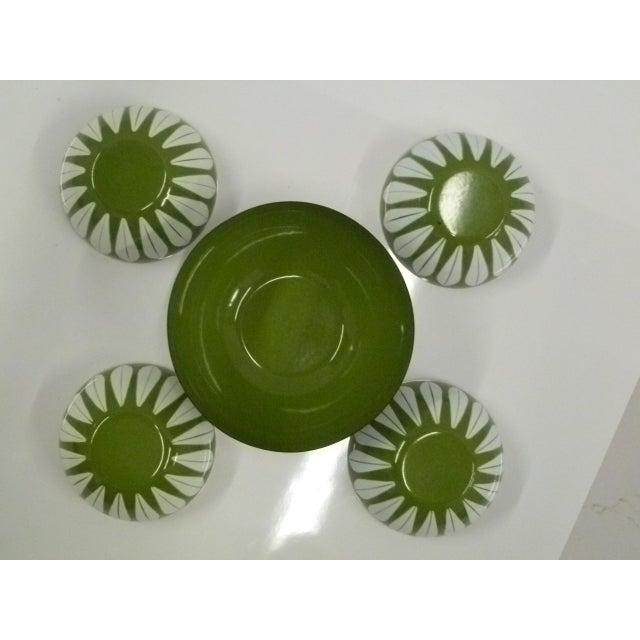 Danish Modern Grete Prytz Kittilesen Set of 5 Scandinavian Modern Serving Bowls by Cathrineholm, Norway For Sale - Image 3 of 7