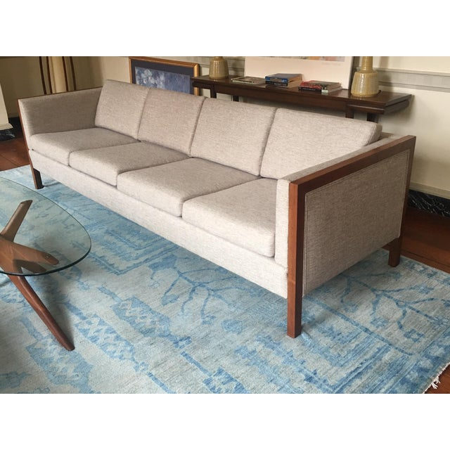 Mid-Century Modern Four Seat Long Sofa by Dux For Sale - Image 13 of 13
