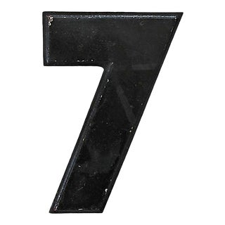 Vintage Metal Drive-In Number 7 For Sale