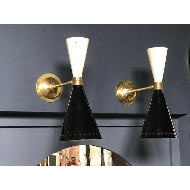 Italian two-tone lacquered sconces : stylish, iconic for your bedroom, bathroom, library, kitchen, hallway....
