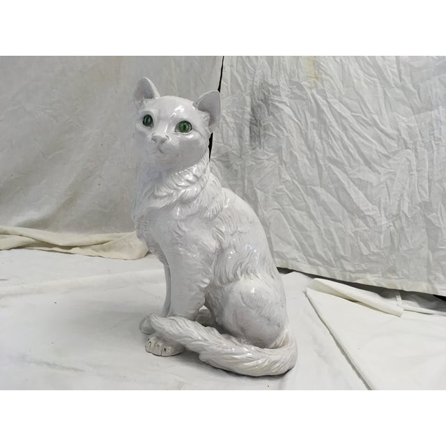 Italian Terracotta Cat Figure For Sale - Image 9 of 10