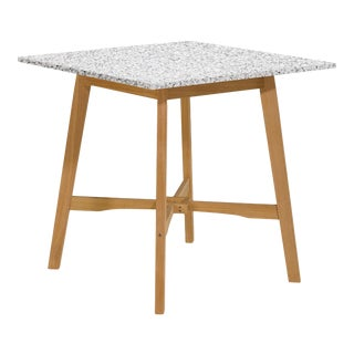 Wooden Outdoor Bar Table, Natural and Ash For Sale