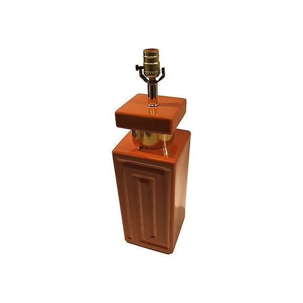 Copper & Gold Geometric Lamp - Image 2 of 5