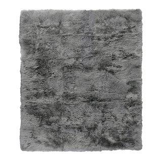 Denis Shag Sheepskin Gray Rug-8'x11' For Sale